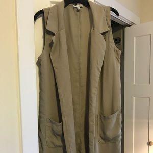 Never worn sleeveless knee length cardigan